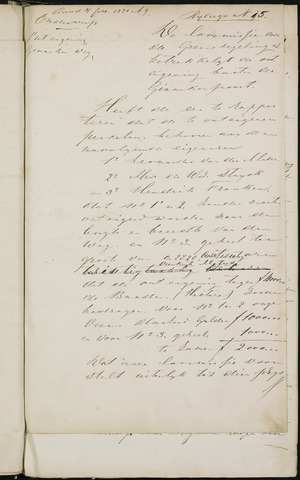 Breda - Bijlagen bij de notulen van de gemeenteraad 1871