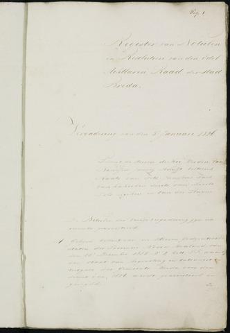 Breda - Notulen van de gemeenteraad 1826-01-01