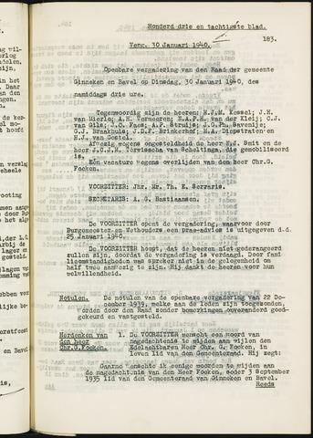 Ginneken en Bavel - Notulen van de gemeenteraad 1940-01-01