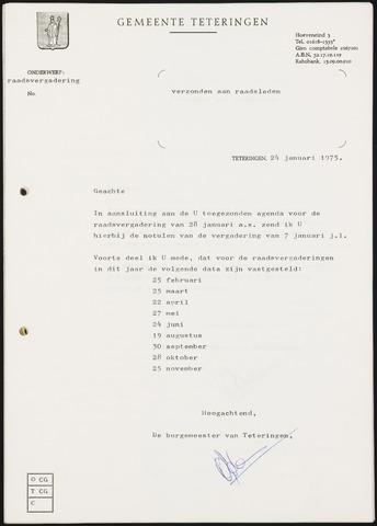 Teteringen - Notulen en bijlagen van de gemeenteraad 1975-01-28