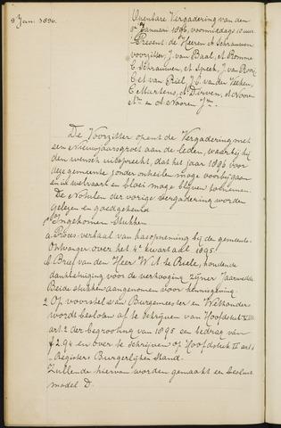 Princenhage - Notulen van de gemeenteraad 1896-01-01