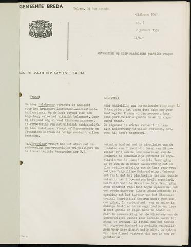Breda - Bijlagen bij de notulen van de gemeenteraad 1957-01-01