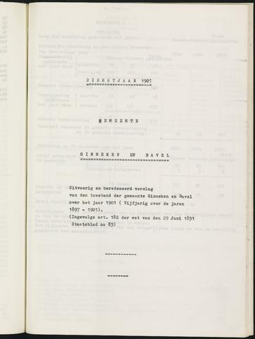 Ginneken en Bavel - Verslagen van de toestand van de gemeente 1901