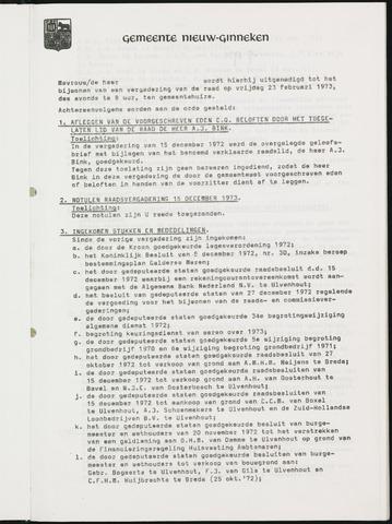 Nieuw-Ginneken - Notulen en bijlagen van de gemeenteraad 1973