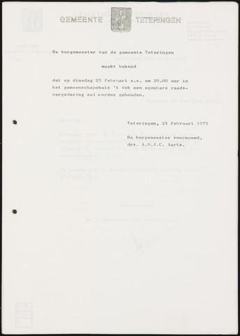 Teteringen - Notulen en bijlagen van de gemeenteraad 1975-02-25