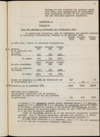 Breda - Verslagen van de toestand van de gemeente 1864-01-01