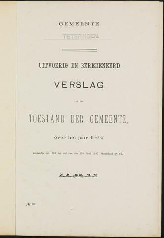 Teteringen - Verslagen van de toestand van de gemeente 1904