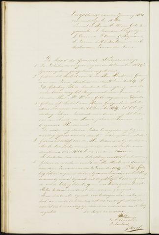 Princenhage - Notulen van de gemeenteraad 1850
