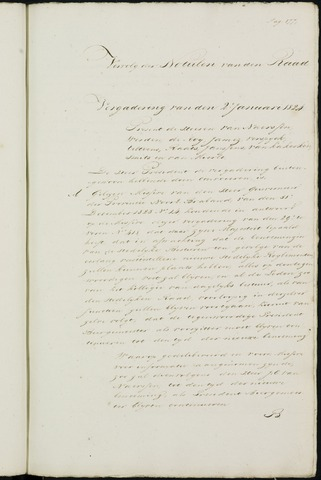 Breda - Notulen van de gemeenteraad 1824-01-01