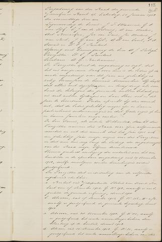 Ginneken en Bavel - Notulen van de gemeenteraad 1913-01-01