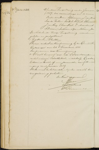 Princenhage - Notulen van de gemeenteraad 1889-01-01