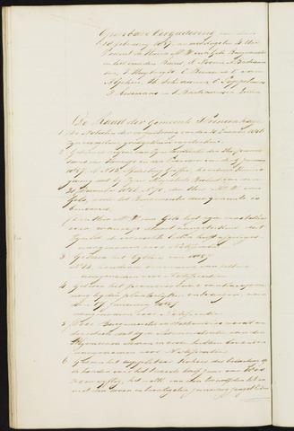 Princenhage - Notulen van de gemeenteraad 1857