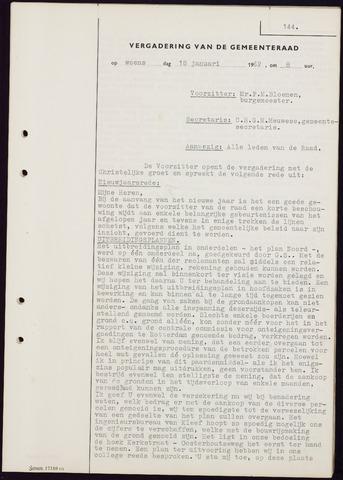 Teteringen - Notulen en bijlagen van de gemeenteraad 1962