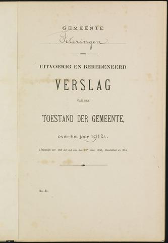 Teteringen - Verslagen van de toestand van de gemeente 1912