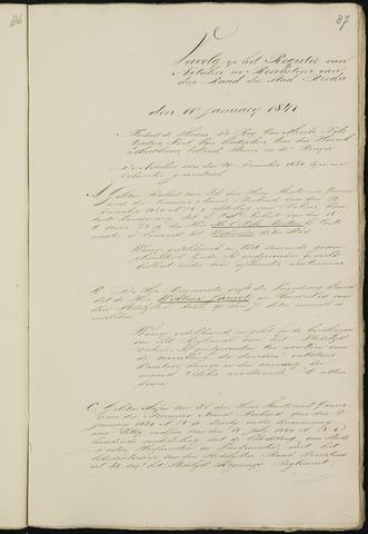 Breda - Notulen van de gemeenteraad 1841