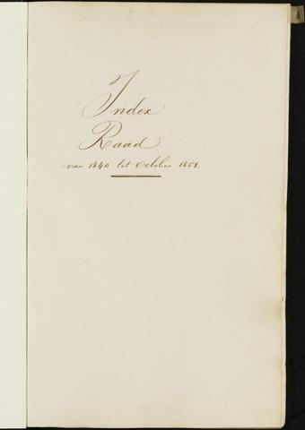 Breda - Indexen op de notulen van de gemeenteraad 1840-01-01