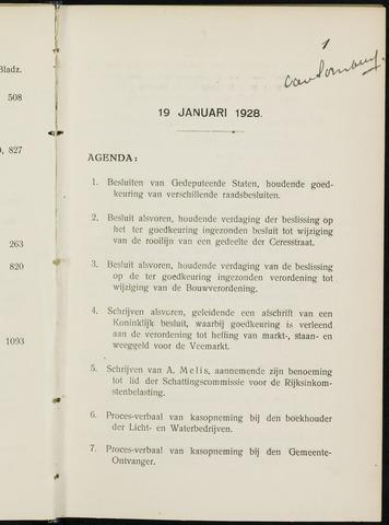 Breda - Notulen van de gemeenteraad 1928-01-01
