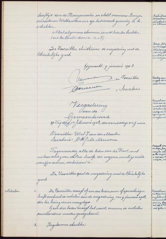 Teteringen - Notulen en bijlagen van de gemeenteraad 1958