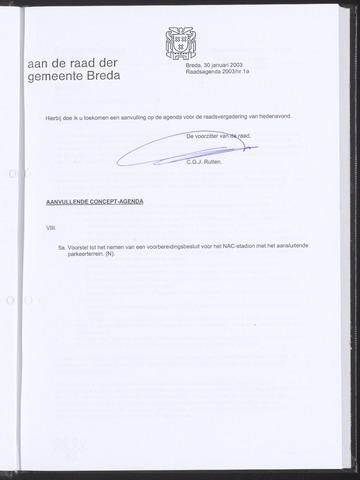 Breda - Bijlagen bij de notulen van de gemeenteraad 2003-01-30