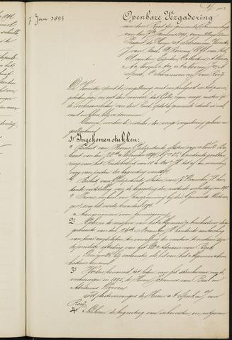 Princenhage - Notulen van de gemeenteraad 1895-01-01