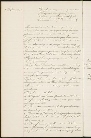 Princenhage - Notulen van de gemeenteraad 1913