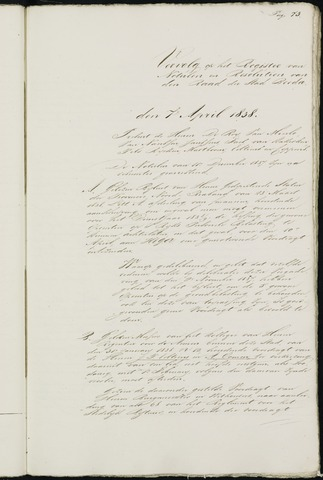 Breda - Notulen van de gemeenteraad 1838-01-01