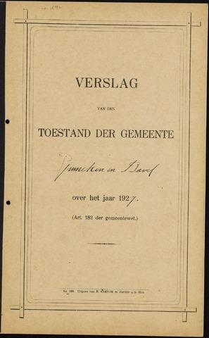 Ginneken en Bavel - Verslagen van de toestand van de gemeente 1927-01-01
