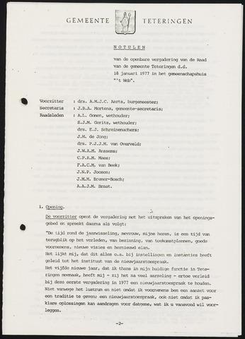 Teteringen - Notulen en bijlagen van de gemeenteraad 1977-01-25