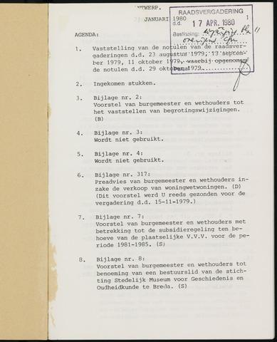 Breda - Notulen van de gemeenteraad 1980