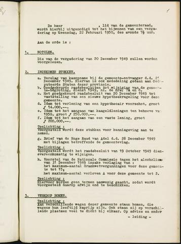 Nieuw-Ginneken - Notulen en bijlagen van de gemeenteraad 1950