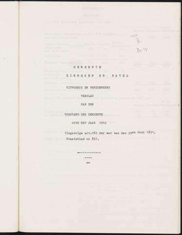 Ginneken en Bavel - Verslagen van de toestand van de gemeente 1912