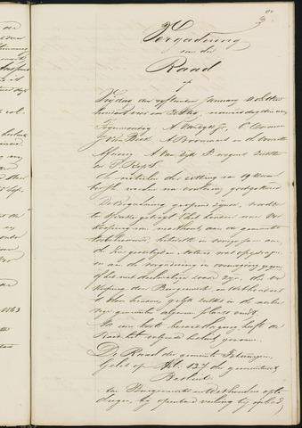 Teteringen - Notulen en bijlagen van de gemeenteraad 1864