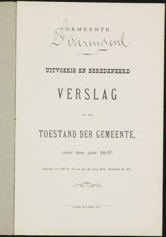 Teteringen - Verslagen van de toestand van de gemeente 1880