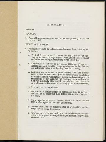 Breda - Notulen van de gemeenteraad 1964-01-01