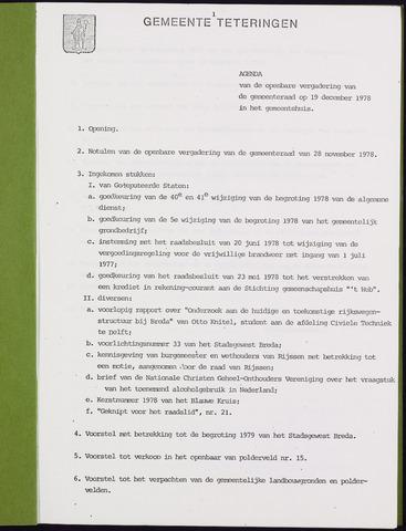 Teteringen - Notulen en bijlagen van de gemeenteraad 1978-12-19