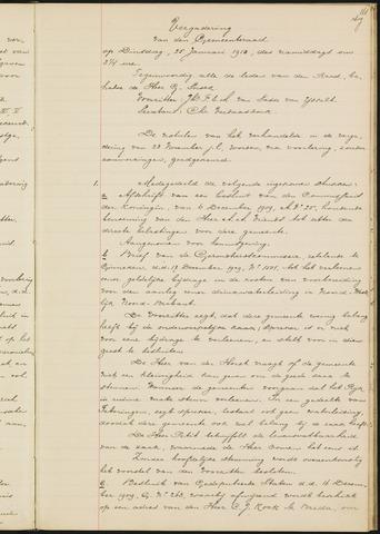 Teteringen - Notulen en bijlagen van de gemeenteraad 1910