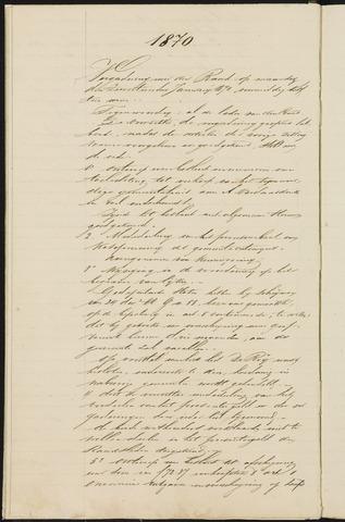 Teteringen - Notulen en bijlagen van de gemeenteraad 1870