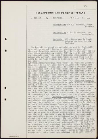 Teteringen - Notulen en bijlagen van de gemeenteraad 1964