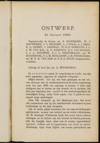 Breda - Notulen van de gemeenteraad 1899