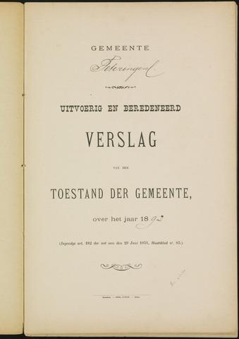 Teteringen - Verslagen van de toestand van de gemeente 1892-01-01