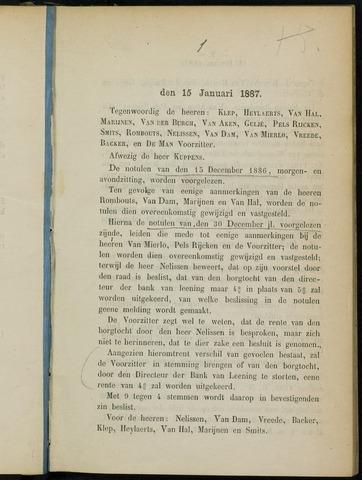 Breda - Notulen van de gemeenteraad 1887
