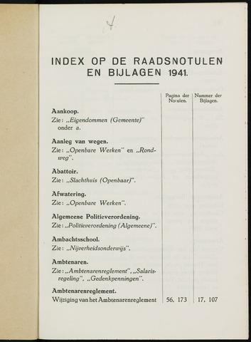 Breda - Indexen op de notulen van de gemeenteraad 1941-01-01