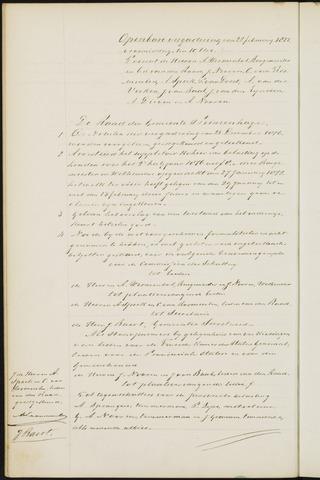 Princenhage - Notulen van de gemeenteraad 1877