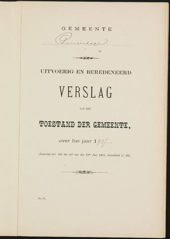 Princenhage - Verslagen van de toestand van de gemeente 1907