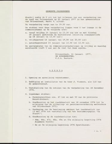 Prinsenbeek - Notulen van de gemeenteraad 1977