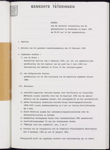 Teteringen - Notulen en bijlagen van de gemeenteraad 1981-03-19