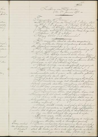 Ginneken en Bavel - Notulen van de gemeenteraad 1905-01-01