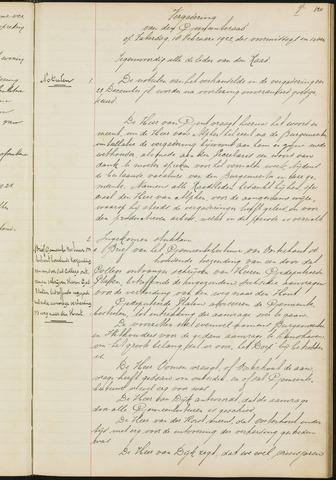 Teteringen - Notulen en bijlagen van de gemeenteraad 1922