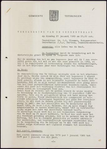 Teteringen - Notulen en bijlagen van de gemeenteraad 1969