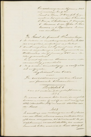 Princenhage - Notulen van de gemeenteraad 1852-01-01